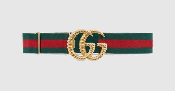 Elastic Gucci Belt