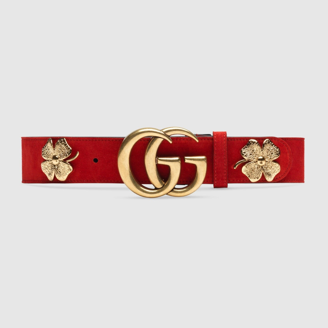 Suede Gucci Belt