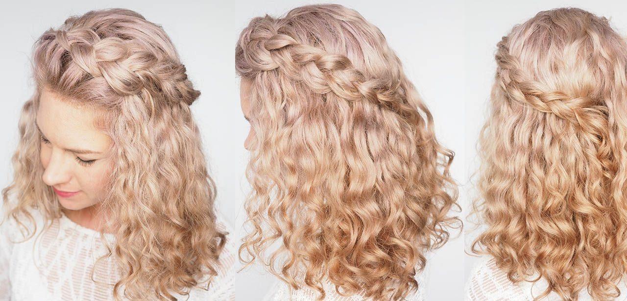 curly hair braid