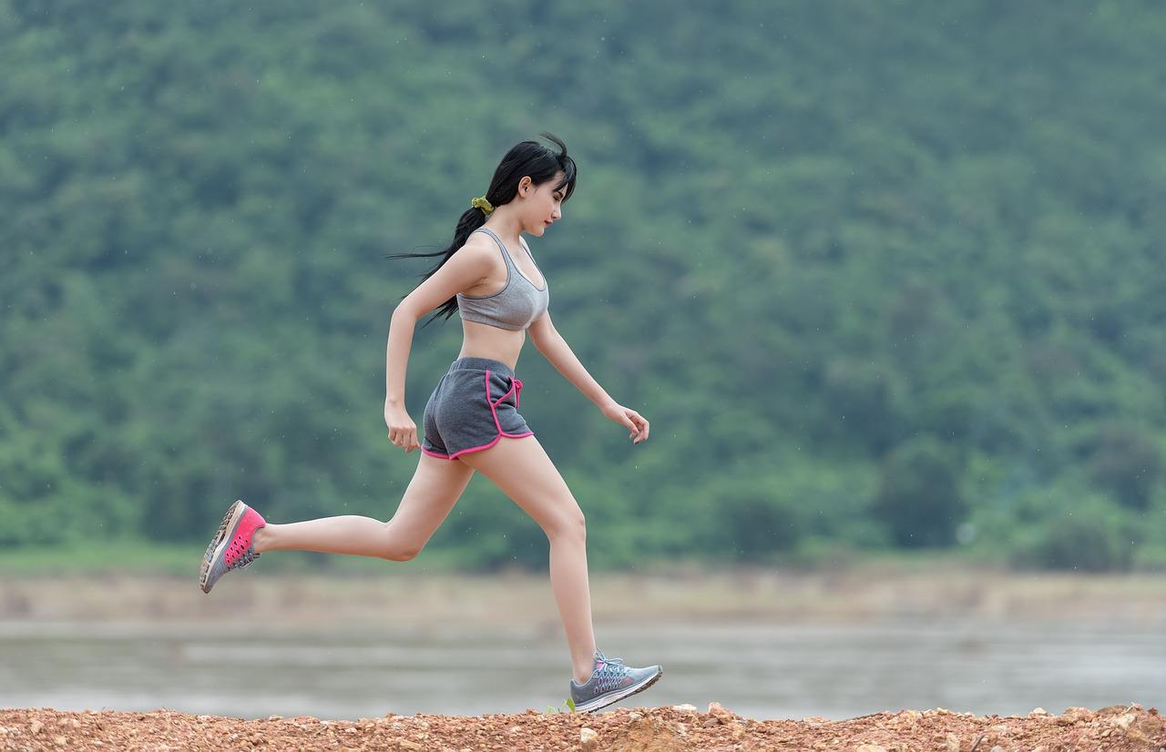 running on hill