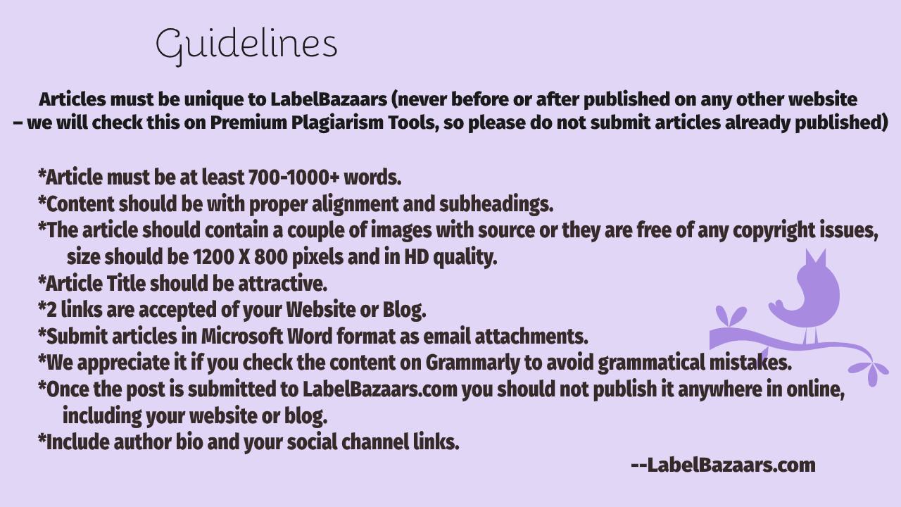 LabelBazaars Guidelines